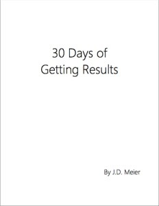 30 days Of Getting Results